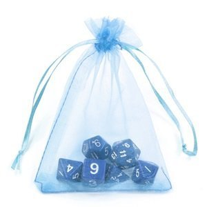 Bluecell Pack of 50 Light Blue color Organza Drawstring Gift Bag Pouch Wrap for Party/Game/Wedding (4.5x3.5