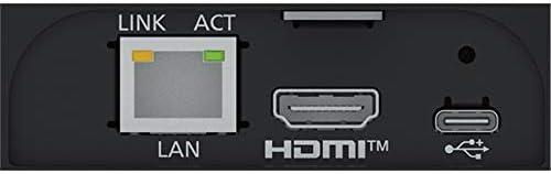 Panasonic AW-UE4KG in schwarz Kompakte 4K UHD PTZ-Kamera mit Ultraweitwinkelobjektiv und 4-Fach digital Zoom