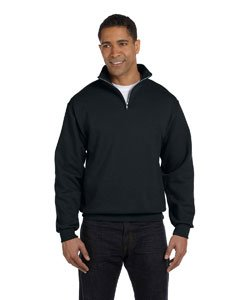 Jerzees Adult NuBlend Quarter-Zip Cadet-Collar Sweatshirt - Black - S (Quarter Sweatshirt Zip Jerzees)