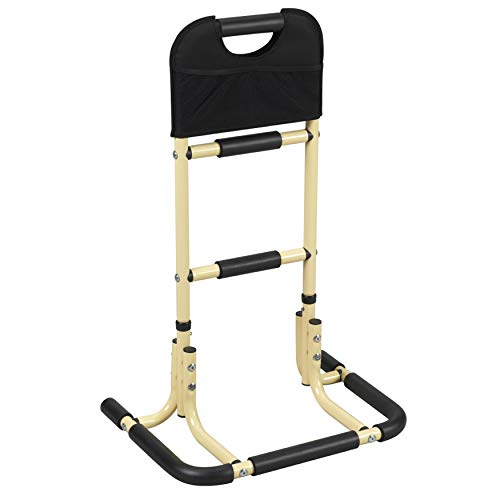 Easy Riser Bed Rail Assist Bar Handle for Seniors, Standing with Storage Pouch