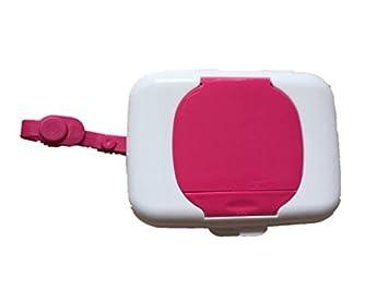 Dispensador de toallitas de bebé portátil; para toallitas húmedas, caja de pañuelos para niños rosa rosa: Amazon.es: Bebé