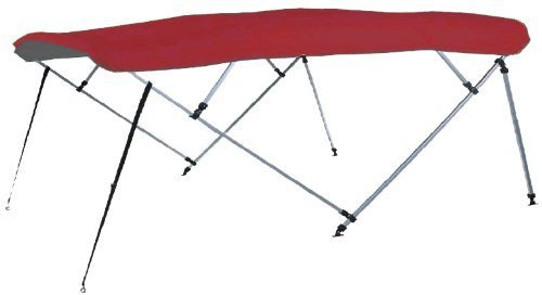 Carver Bimini Top Frame (Carver Industries 50510 4-Bow 1 inch Square Tube Bimini Top Frame (Frame Only) Carver 50510 fits 91-96 inch W, 8 ft L, 48 inch H-Bimini Top by Carver)
