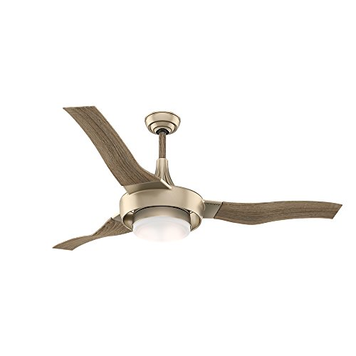 Casablanca 59168 Perseus Indoor Ceiling Fan with Wall Control, Large, Metallic Sunsand For Sale