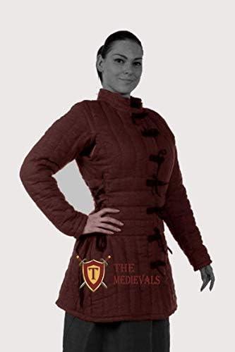 Thick Padded Female Gambeson Coat Aketon Jacket Armor