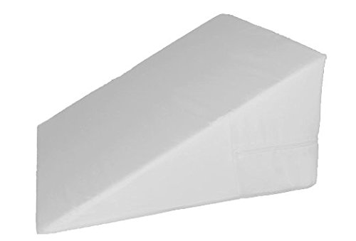 "7"", 10"", 12""-inch Foam Bed Wedge White Zippered Cover / Pillow Replacement Cover ONLY (For 10"" Bed Wedge)"