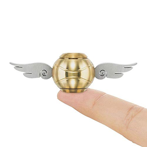 Xstar Golden Snitch Fidget Spinner Hand Finger Toys Spinner Focus Copper Stainless Steel Metal Fingertip Gyro Stress Relief Anxiety Fun Toy Best Gift for Kids Adults Friends(V2)