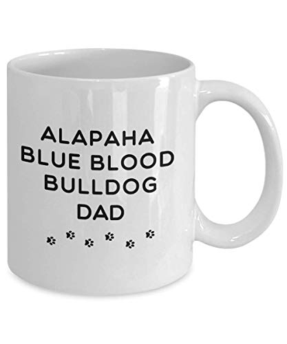 Best Alapaha Blue Blood Bulldog Dog Dad Cup Unique Ceramic Coffee Mug Gifts for Men 3