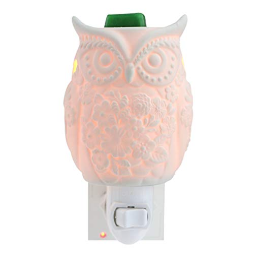 STAR MOON Plug in Wax Warmer for Home Décor, Pluggable Home Fragrance Diffuser, Bas-Relief Craft, No Flame, with One More Bulb, Sitting Owl]()
