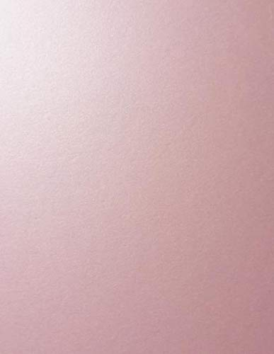 Rose Quartz Pink Stardream Metallic Cardstock Paper - 8.5 X 11 inch - 105 lb. / 284 GSM Cover - 25 Sheets from Cardstock Warehouse