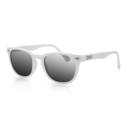 Zanheadgear NVS Sunglasses, Matte White Frame, Smoke Reflective Lens