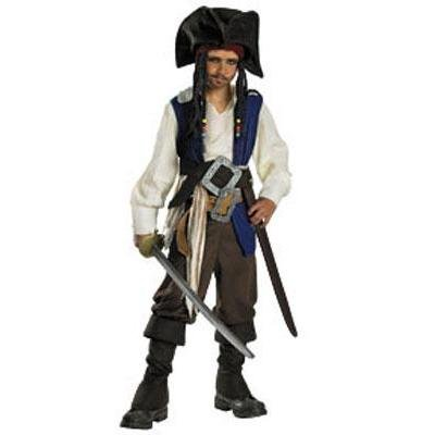 Captain Jack Sparrow Deluxe Child Costume - Small 4-6 from Disguise