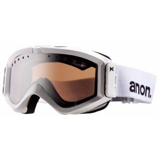 Anon Figment Painted Snowboard Goggles - White / Silver Amber (Goggle Sale Anon)