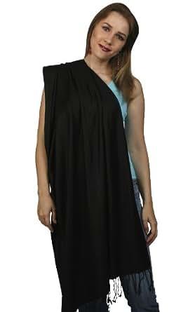 "Black Pashmina Scarf 24""w at Amazon Women's Clothing store: Prayer"