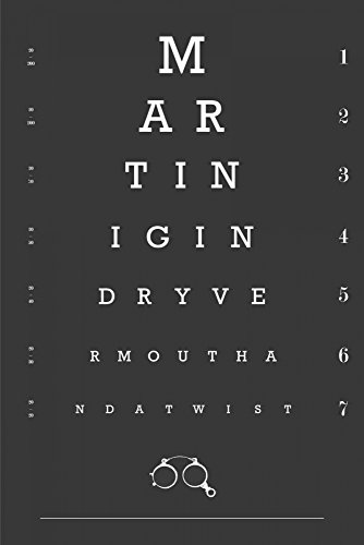 Eye Chart Martini by Fig-Melon Press 10