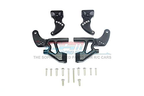Traxxas E-Revo 2.0 VXL Brushless (86086-4) Upgrade Parts Aluminum Rear Wing Mount Full Set - 4Pc Set Black