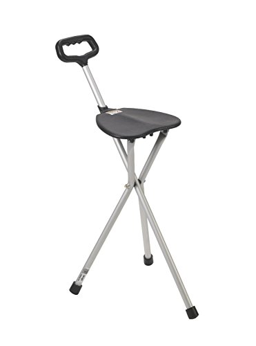 (Folding Cane Chair, Black)