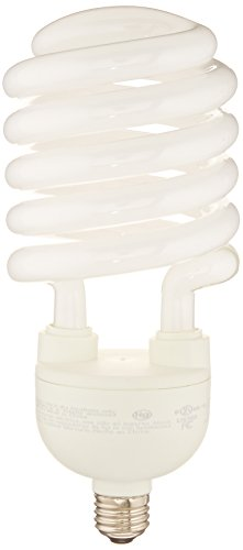 (TCP CFL Spring Lamp, 300W Equivalent, Cool White (4100K) MEDIUM (e26) Base Spiral Light Bulb, 4200 Lumens)
