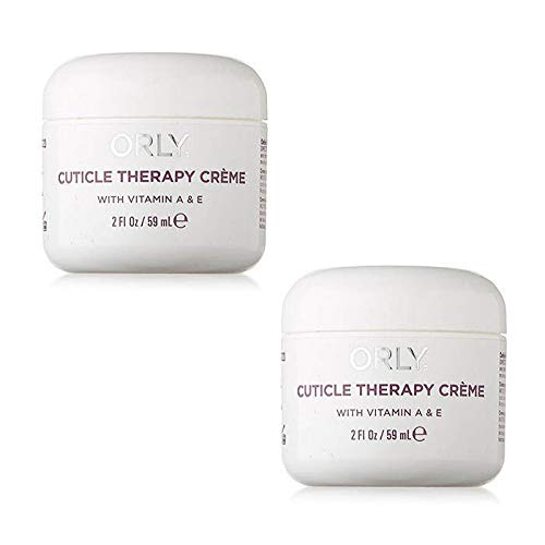 Orly Cuticle Care Cuticle Therapy Creme With Vitamins A & E - Size 2 Fl.oz / 59 ml. (Pack 2) by ORLY