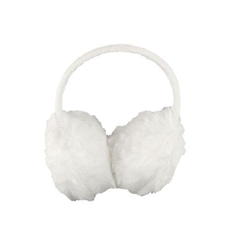 Lady Plastic Frame White Fluffy Ear Warmers Earmuffs
