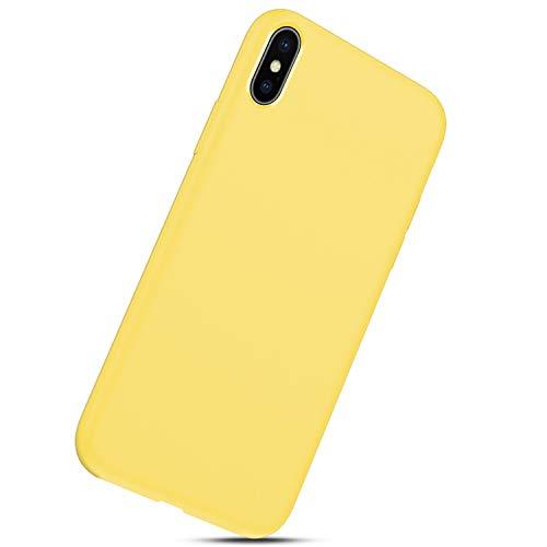 Liquide Housse Tpu coque Iphone Case Silicone Mince Bumper Cover Jaune Coque Souple X Herbests Fine Gel Xs jaune Anti Choc tZpwxYqq7