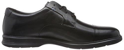Rockport Dressports 2 Lite Cap Toe, Scarpe Basse Uomo Nero (Nero (Black Leather))