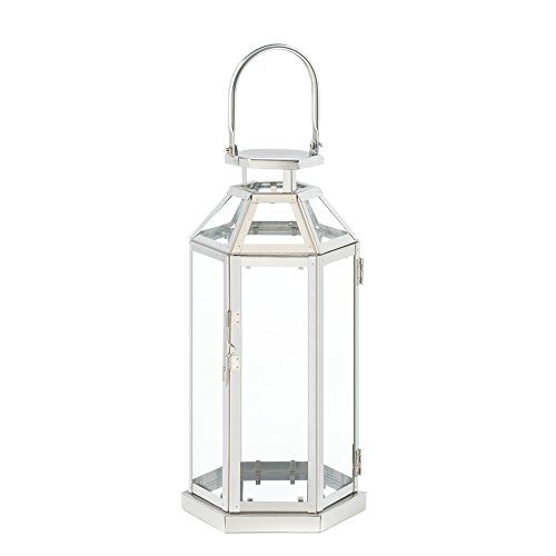 Steel Symmetry Candle Lantern Home Decor Lighting Accessories Light Table Accessories Home Decor Home Decorative Items Accessories and Gifts by Unique's Shop
