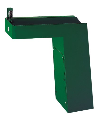 - Haws 3202 Galvanized Steel Barrier-Free Trough Style Pedestal Drinking Fountain with Green Powder-Coated Finish