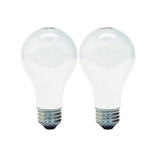 - GE Lighting 63003 Soft White 43-Watt (60-watt replacement) 750-Lumen A19 Light Bulb with Medium Base, 2-Pack