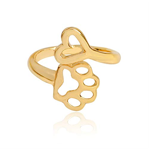 f77255a558196 Amazon.com: Always by My Heart Adjustable Ring   Animal Beloved Pet ...
