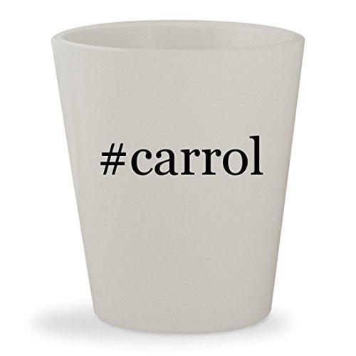 Carrol   White Hashtag Ceramic 1 5Oz Shot Glass