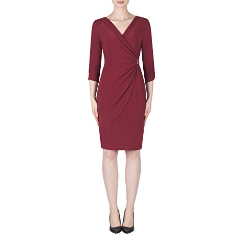 Joseph Ribkoff Silky Knit Wrap Style Dress Style 183030 Size (Designer Career Dress)