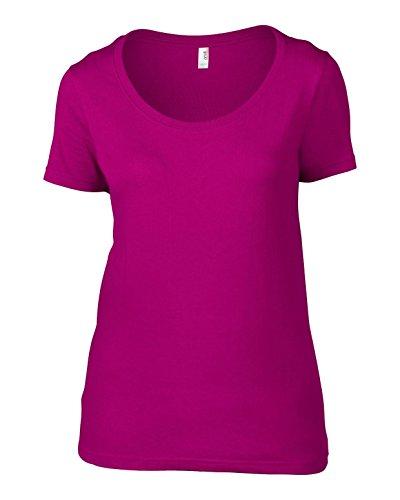 Anvil AV121Ladies Camiseta De Algodón Sheer cuello redondo pequeño)