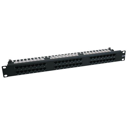 2u Slotted Panel (Tripp Lite 48-Port 1U Rackmount Cat6 110 High Density Patch Panel 568B, RJ45)