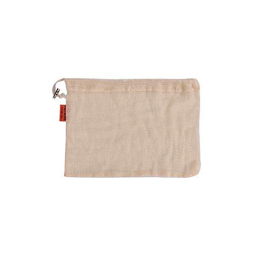 Bolsas de malla de algodón, reutilizables, con cordón para ...