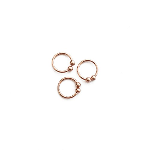 HONEYCAT 18k Rose Gold Plated Ear Cuffs (set of 3) | Minimalist Delicate Jewelry (RG)