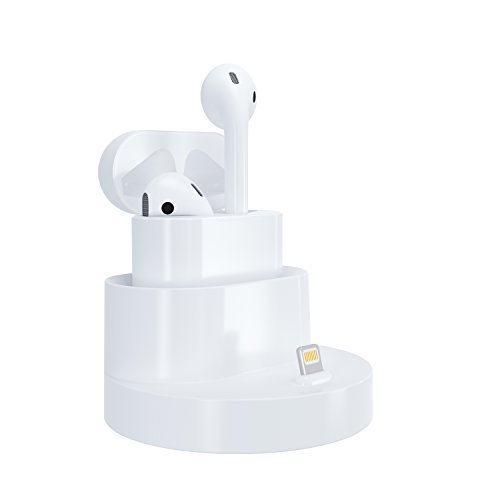 Airpods Charger Stand, GOOQ Apple Charging Station Dock for Airpods Wireless Bluetooth Headphone Case and iPhone 7/7Plus/SE/6S Plus/6/6Plus/5S/5