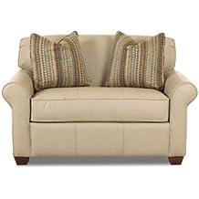 Calgary Chair Sleeper Sofa In Microsuede Sand