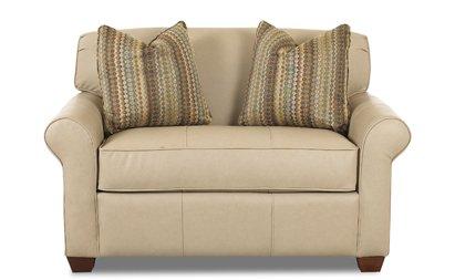 Calgary Chair Sleeper Sofa in Microsuede Sand - Microsuede Chair Sleeper