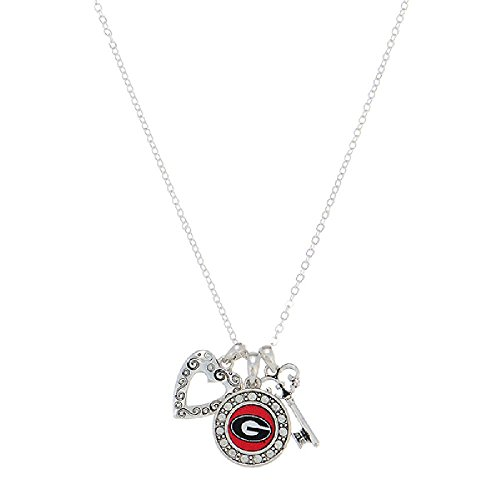 NCAA Georgia Bulldogs Key to My Heart Charm Logo Necklace