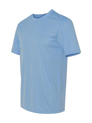 Hanes 4 oz NANO-T Cool Dri T-Shirt (Light Blue, Medium)