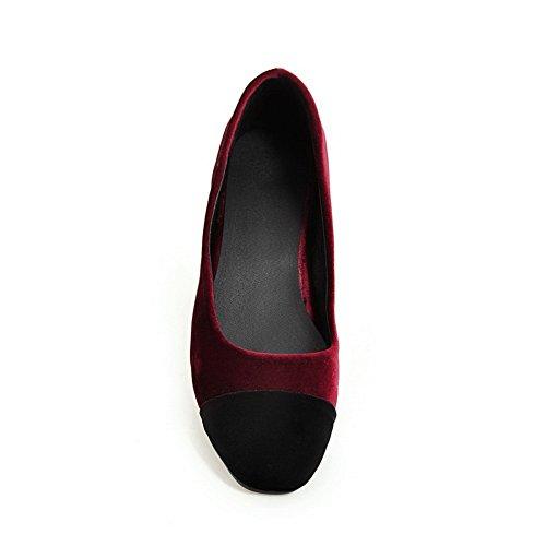Para cerrados Zapatos Burdeos mujer BalaMasa Owqa1vxE5E