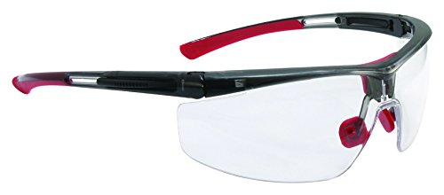 UVEX by Honeywell T5900NTK North Adaptec Series Safety Eyewear Narrow Black Frame Clear Lens, Uvextra Anti-Fog Coating