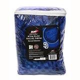 "MLB Licensed San Diego Padres Royal Blue Plush Raschel Fleece 50""x60"" Throw Blanket"