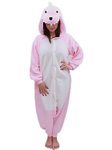 Adult Dinosaur Onesie Animal Pajamas-Plush One Piece Halloween Cosplay Costume