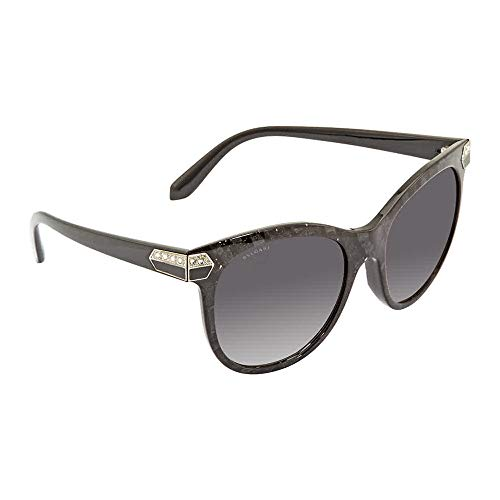 Bvlgari Women's BV8185BF Sunglasses Bvlgari Black (Mamba) / Grey Gradient 55mm (Bvlgari Sonnenbrille Damen)