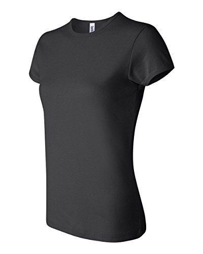 Bella Ladies Super soft 1x1 baby rib knit fabric T Shirt - Black - Large