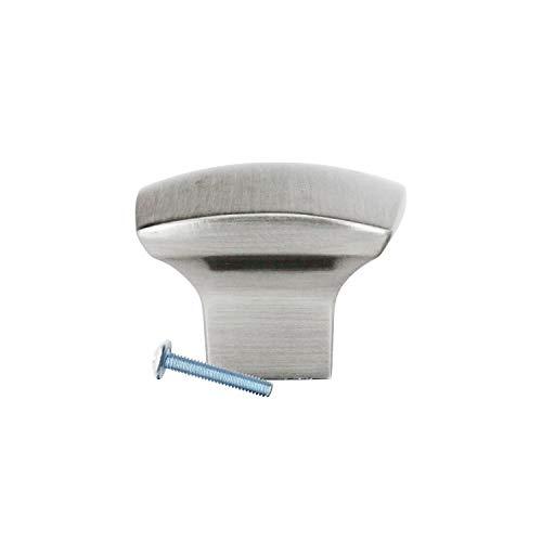 10 Pack Rok Hardware Zen Dynasty Square Style Brushed Nickel Cabinet Drawer Knob, 1-7/32