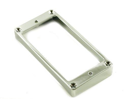 METAL HUMBUCKER RING HIGH CURVED - CHROME (Chrome Pickup Rings)
