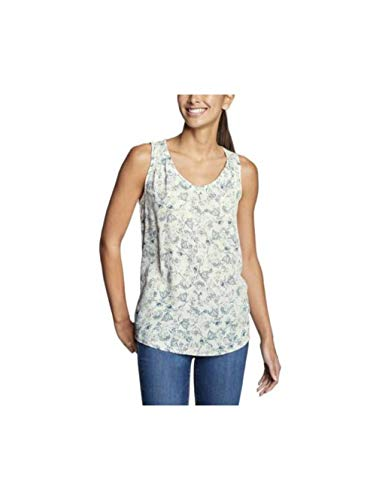 Eddie Bauer Women's Thistle Tank Top - Printed, Parchment Regular M