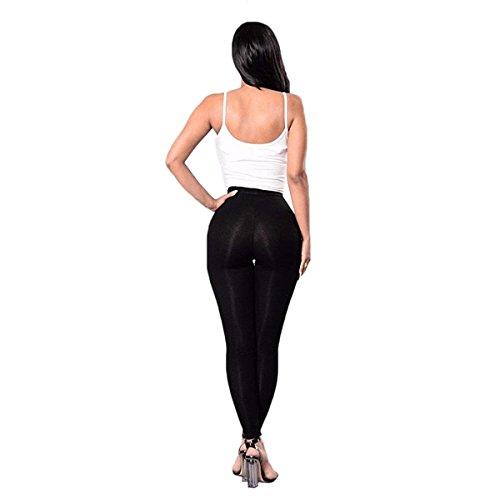 Estivi Waist Skinny Pantaloni Pantaloni Matita Nero High Tendenza Tempo Lacci Pants Streetwear Legging Cute A Swag Chic Fashion Lunga Pantaloni Donna Libero Con q4wYfIw
